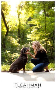 Dog and owner portrait