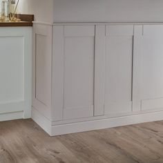 Our primed Shaker wall panelling has a simple and classic look that will enhance your home. Already primed, it's ready for a splash of paint in your chosen colour. Bathroom Worktops, Simple Kitchen Cabinets, Interior Door Trim, Mdf Wall Panels, Door Fittings, Fitted Bathroom, Kitchen Views, Cabinet Styles, Shaker Style