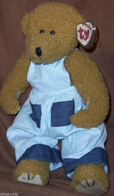 """CARLTON Beanie Baby Jointed Bear NEW Brown TY CLASSIC 16"""" 1996 RETIRED #Ty"""