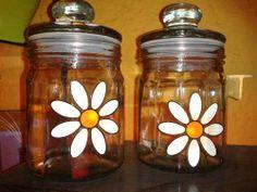 frasco de vidrio decorado Ideas, Home Decor, Decorated Jars, Bottles, Glass Bottles, Decorated Bottles, Xmas, Home, Recipes