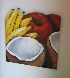 """recorte em alumínio """"folha de bananeira"""""""