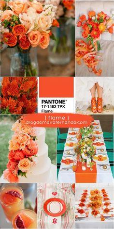 Decoração de Casamento : Paleta de Cores Flame | Wedding Color Palette Flame | Pantone Colors 2017