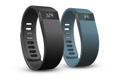 This newer tracker displays your stats right on the band, rather than requiring you to use the smartphone app. The display also doubles as a watch. The tracker sends push notifications when you are nearing your goals, and has an altimeter, so it can record the number of stairs you climb.