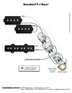 precision bass wiring diagram rothstein guitars %e2%80%a2 serious tone for the player 90 honda civic radio 74 best guitar mods images jazz instruments copyright c 2006 seymour duncan basslines standard p j 5427 hollister ave