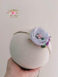 Tieback vintage fleur baby blue bébé fille newborn PhotoProps de la boutique…