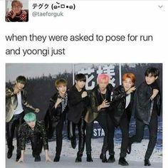 """""""Quando li hanno chiesto di posare per run e Yoongi"""""""