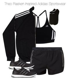 """""""Theo Raeken Inspired Adidas Sportswear"""" by staystronng ❤ liked on Polyvore featuring adidas, women's clothing, women, female, woman, misses, juniors, sportswear, tw and gym"""