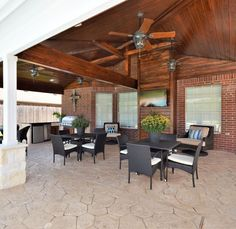 Beautiful outdoor space to host Thanksgiving dinner at!  Built by Backyard Retreats, (281) 485-8483