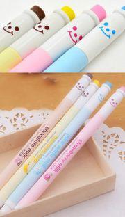 Kawaii milk bottle erasable gel pen