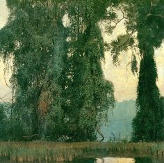 Daniel Garber (Am. 1880-1958), Towering Trees, 1911, huile sur toile, 137,8 x 140,3 cm, Chicago Art Institute