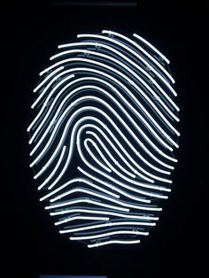 NEON 'FINGERPRINT' SIGN                                                                                                                                                                                                                                                                                                                                                                    ๑෴MustBaSign෴๑
