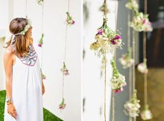 The photobooth for this hippie chic themed baby shower