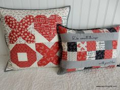 A fun Valentine's pillow you can make in an afternoon!