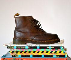 Amazing 90s Brown Dr. Martens Boots Size Women 7 by Hookedonhoney #vintagedocs #90sdocmartens #vintagedocmartens #90sdocs #browndocs #docmartens #vintageboots