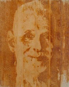 Ramana Maharshi  - a Buddha of our time - Painting - Diffusion - by van der Vogel