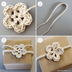 Crochet Gift Tie... What a great idea!!