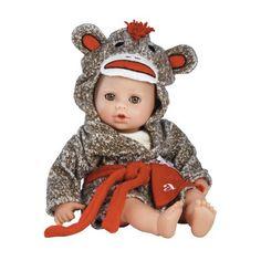 """Adora Sock Monkey/Brown Eyes Bath Time 13"""" Baby Doll by Adora, http://www.amazon.com/dp/B00EAPQAHI/ref=cm_sw_r_pi_dp_Co4hsb1W4JR4Z"""