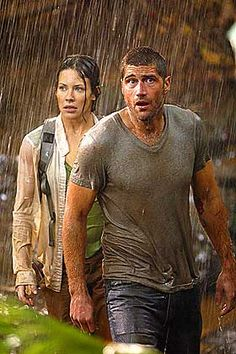 Evangeline Lilly as Kate Austen and Matthew Fox as Jack Shephard (LOST)