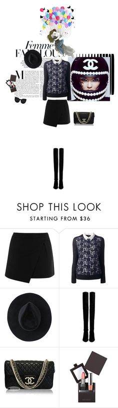 """Inverno in città"" by piccolauby ❤ liked on Polyvore featuring Chanel, Warehouse, Tory Burch, Ryan Roche, Stuart Weitzman, Laura Mercier and Delalle"