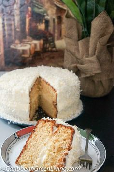 How to make the most flavorful and delicious coconut cake http://www.caribbeangreenliving.com/how-to-make-the-most-flavorful-and-delicious-coconut-cake/?utm_campaign=coschedule&utm_source=pinterest&utm_medium=Caribbean%20Green%20Living&utm_content=How%20to%20make%20the%20most%20flavorful%20and%20delicious%20coconut%20cake My updated version has less sugar and is more flavorful in my opinion - I had to add my Caribbean taste to it! Enjoy! #cake #coconut #cake #entertaining #dessert