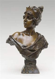Buste Lucrèce von Emmanuel Villanis (1858 - 1914)