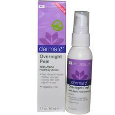 Derma E, Overnight Peel with Alpha Hydroxy Acids, 2 fl oz (60 ml) - iHerb.com  ночной пиллинг