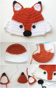 Chunky Crochet Fox Hat - 17 Free Crochet Baby Beanie Hat Patterns | 101 Crochet