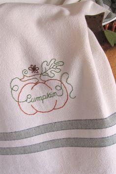 Picture of Freebie - Fruits  Veggies Tea Towel - Pumpkin