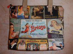 """Mala Vintage """"Marcas de Portugal"""" <3"""