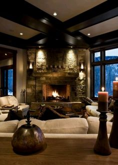 Cozy!!! I love homes with warmth!