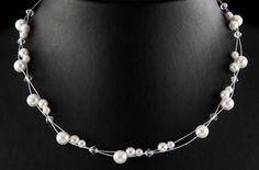 Brautschmuck perlenkette  Kette 2 reihig *Clara | Produkte