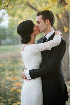Absolutely love this dress. Very modest and elegant. Love the lace. The norwegian wedding blog