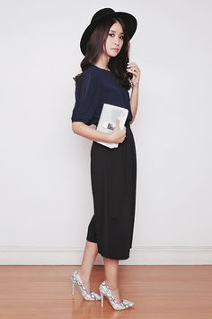 Tricia Gosingtian - Young Hungry Free Top, Apartment 8 Culottes, Emoda Bag, Sm Parisian Heels - 111214
