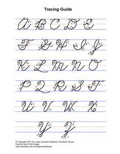 Practice Cursive Writing Full Alphabet Lower And Upper Case
