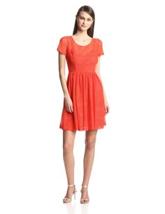 Stella Short-Sleeve Fit-and-Flare Dress by Plenty by Tracy Reese