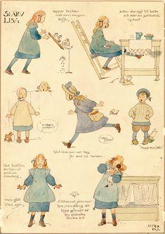 Ottilia Adelborg - Slarv Lisa Jultomten 1914