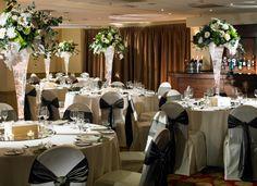 Charcoal Knot Chair Covers #worsleypark #weddingwednesday #marriott #kellyandfreya