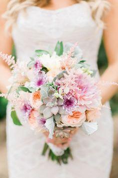 Wedding Bouquets :     Picture    Description  Pink and purple floral + succulent wedding bouquet: www.stylemepretty… | Photography: Koman Photography – komanphotography….    - #Bouquets https://weddinglande.com/accessories/bouquets/wedding-bouquets-pink-and-purple-floral-succulent-wedding-bouquet-www-stylemepretty-photo/