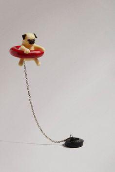 Floating Pug Bath Plug - Topshop