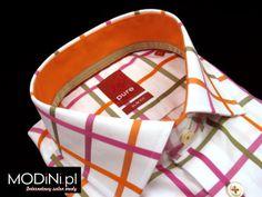 Nowa kolekcja koszula hatico: http://www.modini.pl/biala-koszula-meska-pure-slim-w-pomaranczowo-rozowa-krate-143