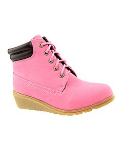 Look at this #zulilyfind! Bella Marie Fuchsia Wedge Work Bootie by Bella Marie #zulilyfinds