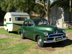 Aussie - early 1950's Holden and van