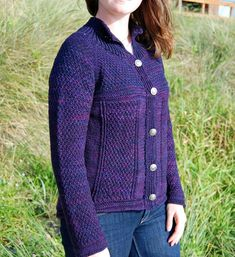 Ravelry: Crater Lake Cardigan pattern by Kay Hopkins Knit Jacket, Sweater Jacket, Knit Cardigan Pattern, Sweater Patterns, Baby Scarf, Dress Gloves, Tailored Jacket, Yarn Brands, Line Design