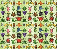 Chibi Great Old Ones fabric by studiofibonacci on Spoonflower - custom fabric