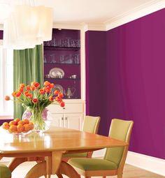 Love the purple wall!