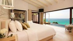 Love this beach house master bedroom!!! Bebe'!!! How peaceful and serene!!!