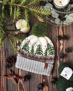 Crochet Hat Ravelry: Christmas tree hat pattern by Evgenia Vashutkina - Size: Fair Isle Knitting Patterns, Knit Patterns, Christmas Tree Hat, Etsy Christmas, Knit Crochet, Crochet Hats, Knitting Projects, Ravelry, Knitted Hats