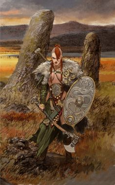 Illustrator Adrian Smith Serpent Warrior: art for Blood Rage, CoolMiniOrNot's upcoming board game. Fantasy Warrior, Fantasy Girl, Dark Fantasy, Fantasy Women, Fantasy Rpg, Medieval Fantasy, Female Viking Warrior, Warrior 2, Woman Warrior