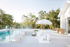 🌟Tante S!fr@ loves this📌🌟Three Birds Renovation Builds my Dream Home – Stace King Outdoor Fire, Outdoor Living, Outdoor Pool, Outdoor Spaces, Three Birds Renovations, Built In Grill, Coastal Bedrooms, Dream Pools, Pool Landscaping