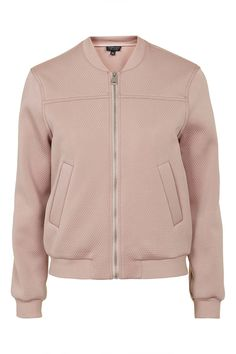 Photo 1 of Punch-Textured Bomber Jacket